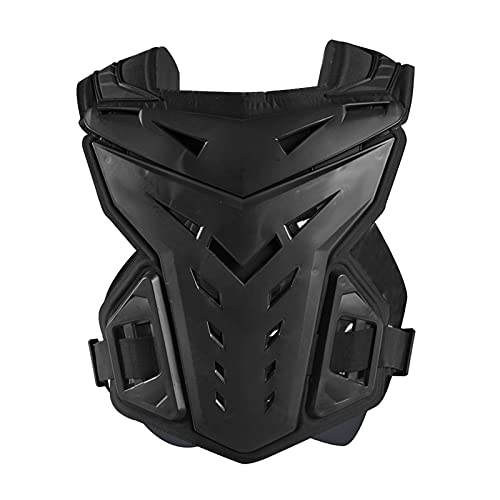 Chaqueta protectora de motocicleta duradera para motorista, truco, carreras, chaleco, protector de pecho, color negro