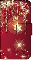 [arrows Be4 Plus F-41B] スマホケース 手帳型 ケース デザイン手帳 アローズ ビーフォー プラス 8016-A. キラキラレッド かわいい 可愛い 人気 柄 ケータイケース
