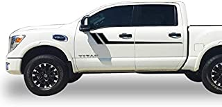 Bubbles Designs Decal Sticker Viny Upper Racing Stripe kit Compatible with Nissan Titan 2016-present