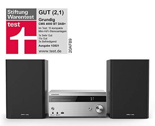 Grundig CMS 4000 BT DAB HiFi System Silber