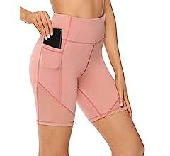 BaojunHT® Pantalones Cortos Deportivos de Cintura Alta para Mujer ...