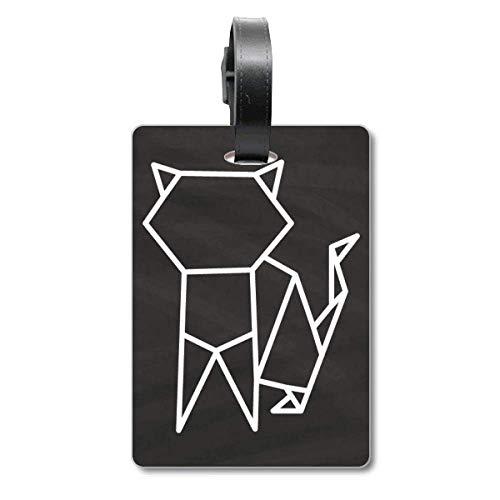 Abstrakte Origami-Katze Geometrische Form Cruise Koffer Bag Tag Tourister Identifikationsetikett