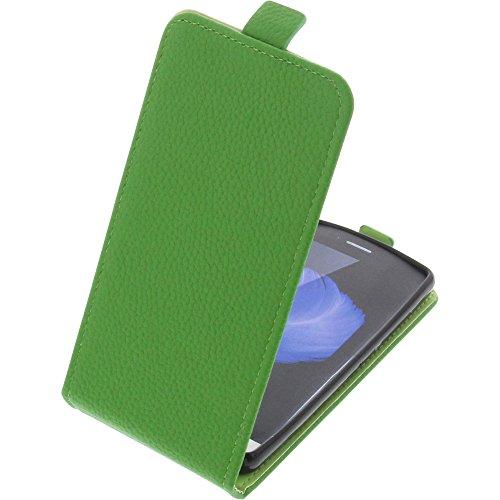 foto-kontor Tasche für TP-Link Neffos C5L Smartphone Flipstyle Schutz Hülle grün