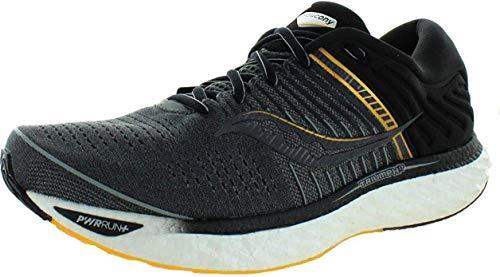 Saucony Triumph 17, Zapatillas para Hombre, Negro Gris Black Gray, 43 EU