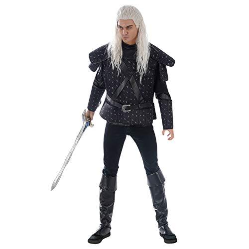 Coraza de Disfraz Geralt para Fans de Witcher 3 Piezas Negro - L/XL