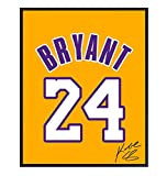 Kobe Bryant Jersey Photo, Wall Art Decor - 8x10 Poster LA Lakers #24 Decoration - Unique Gift for Basketball, Sports Fan, Men, Boys, Teens - Affordable Art for Home, Bedroom, Living Room, Bar UNFRAMED