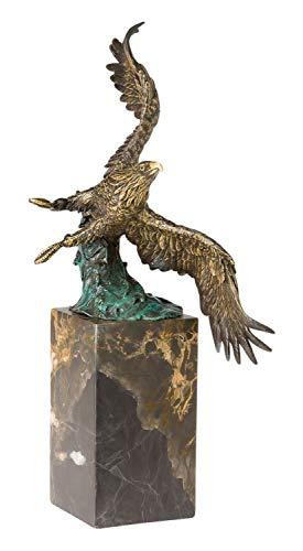 aubaho Statuetta in Bronzo Raffigurante Un'Aquila Reale in Volo 32 cm