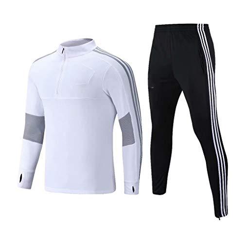 WHSPORT Largo Manga Camisetas Futbol Uniforme Formación Traje Alemania Casa Jerseys Respirable Blanco Todas Los Tamaños Muchachos Y Adulto L-4XL (Size : XXXL)