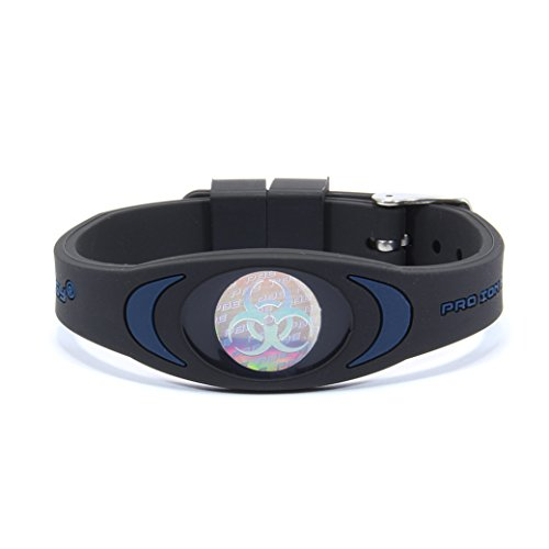 Pro Balance Energy PRO ION 5000 Premium Range Ion Therapy Wristband (Black/Navy, One Size Fits All)