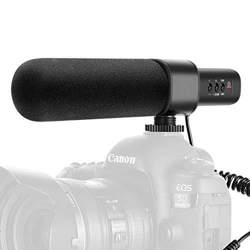 Neewer CM15 Micrófono Cámara Entrevista Compatible con Nikon/Canon/Sony/Panasonic Cámara/DV con Conector de 3,5mm Condensador Unidireccional Eléctrico Súper Cardioide (NO para Teléfonos Inteligentes)