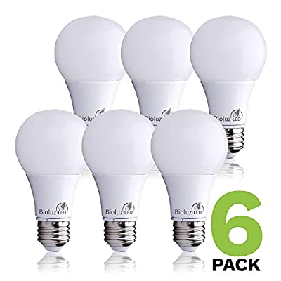 Bioluz LED 6-Pack A19 ECO Series Standard LED Light Bulbs