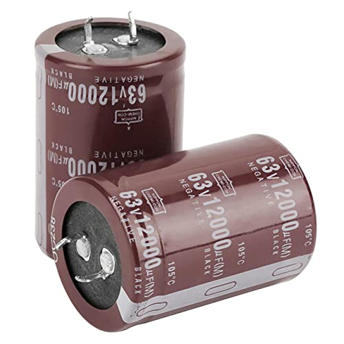 Condensador - 2pcs Audio 63V 12000uf Filtro HiFi Condensador electrolítico 35 * 50 mm para Control de Circuito