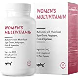 Multivitamin for Women Daily Supplement - with Whole Food Vitamins, Plant-Based, Organic Fruits and Vegetables. Vitamin A, B Complex, C, D3, E, K2 Black Pepper. Vegan and Non-GMO - 60 Capsules.