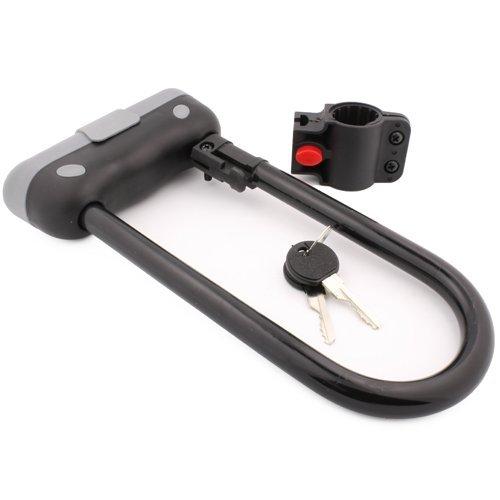 Tuff Bro Heavy Duty 14mm U Bar Bike Lock Anti-theft Bicycle U Lock with Mount Bracket & 2 Keys