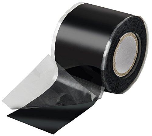 Poppstar 1x 3m selbstverschweißendes Silikonband, Silikon Tape Reparaturband, Isolierband und Dichtungsband (Wasser, Luft), 38mm breit, schwarz
