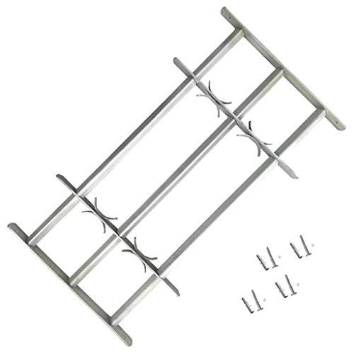 vidaXL Fenstergitter mit Schrauben Ausziehbar 1000-1500mm Einbruchschutz