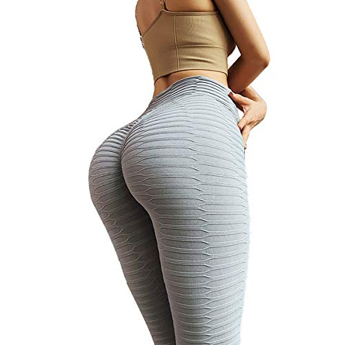 HOOJUEAN Push Up Leggings para Mujer, Leggings de Sport Femme Anti-Cellulite Pantalon de Fitness Haute Slim Push Up Butt Lifter Pants Yoga Pour Jogging Estiramiento Yoga y Pilates
