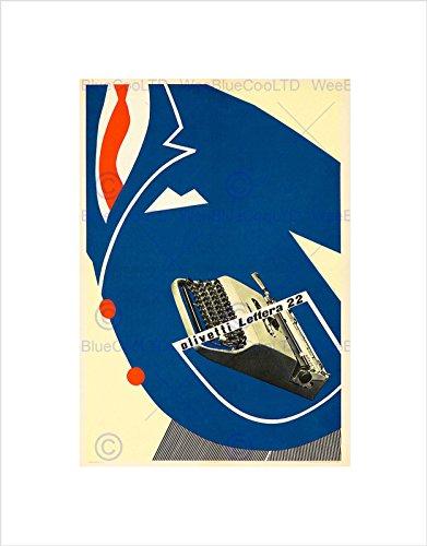 Wee Blue Coo Olivetti Typewriter Advert 1953 Home Deco Wall Art Print pubblicità Casa Parete