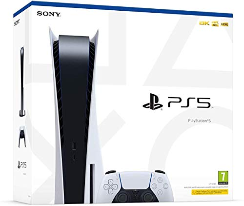 PS5 Consola Sony PlayStation 5 - Standard Edition, 825 GB, 4K, HDR (con lector de disco) + Assassin's Creed Valhalla PS4/PS5