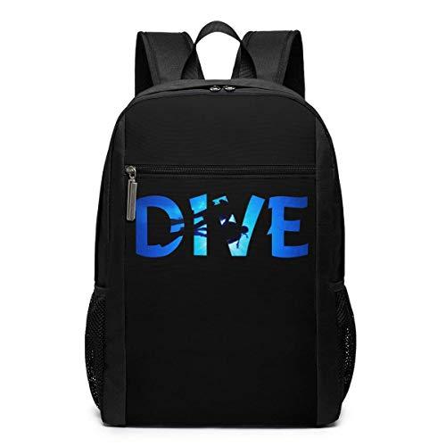 Mochila escolar de viaje, mochila de buceo, mochila de viaje, escuela, bolsas grandes, bolsa de hombro para ordenador portátil, para hombres, mujeres y niños