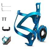 LC&TEAM Flaschenhalter Fahrrad und Adapter, Trinkflaschenhalter Fahrrad, Wasserflaschenhalter Fahrrad, Getränkehalter Fahrrad, aus Aluminium, Universal für Rennrad, Mountainbiker, Kinderwagen, blau