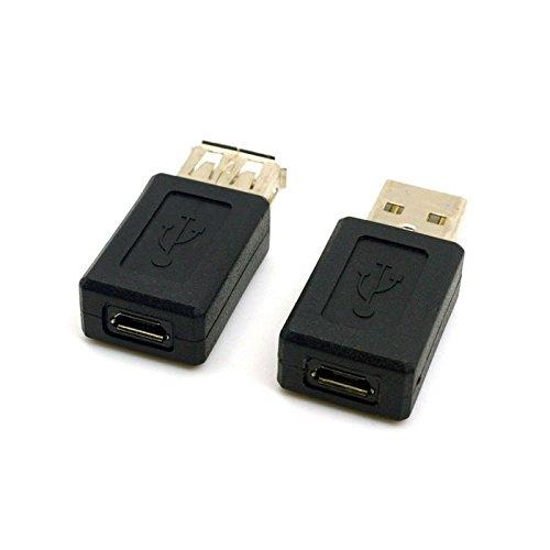 CY Muziekadapter USB 2.0 type A mannelijk naar Micro-USB 5-pins bus & adapterkabel USB-aansluiting op 5-pins aansluiting, zwart, 2 stuks