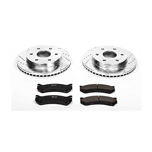 Power Stop K2009 Front Brake Kit with Drilled/Slotted Brake Rotors and Z23 Evolution Ceramic...