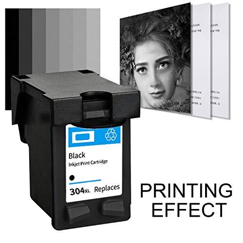 Migaven Schwarzer Tintenstrahldrucker mit großer Kapazität Austausch der Tintenpatrone Kompatibel mit HP 304XL Deskjet 3720 3730 3700