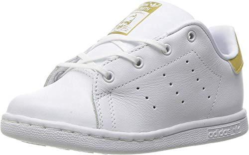 adidas Originals Boys' Stan Smith I Sneaker, White/Metallic/Gold/Metallic/Gold, 10 M US Toddler