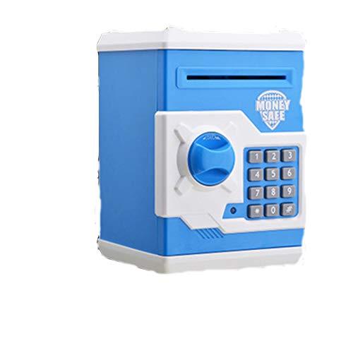 ZYJ Karikatur-elektronisches Passwort-Mini-ATM-Sparschwein, Multifunktionskleinbank-Geldmünzen-Aufbewahrungsbehälter-intelligentes automatisches Rollen-Papier,A