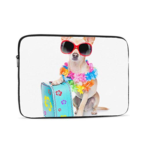 Mac Pro Laptop Case Happy Suitcase Dog Puppy Accessories for MacBook Pro Multi-Color & Size Choices 10/12/13/15/17 Inch Computer Tablet Briefcase Carrying Bag