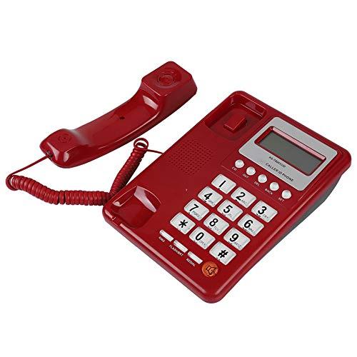 Telefono con Filo cablato, Telefono con Filo per Hotel di casa, Telefono Fisso Telefono Fisso da Ufficio, Visualizzazione ID chiamante/Funzione di ricomposizione/Funzione Flash