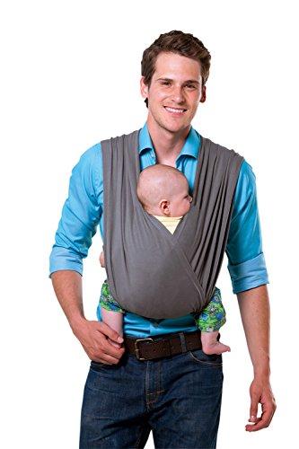 AMAZONAS Babytrage CarryBaby Stone Bauchtrage 2 Schlaufen stressfrei ohne Knoten 4 Monate - 3 Jahre bis 15 kg