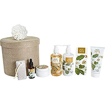 Draizee Home Spa Bath Gift Set for Womens and Girls w/Refreshing Princess Flower Fragrance 8 Pieces - Luxury Skin Care Set Includes Shower Gel Shampoo Body Scrub Body Lotion and More Gift for Mom