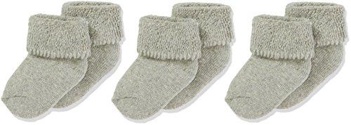 Sterntaler Primeros Calcetines Pack de 3, Edad: a partir de 0 meses, Talla: Recién nacidos (Talla 0), Gris claro (Plata moteada)