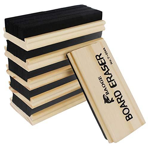 Chalkboard Erasers 6 Pack Wool Felt Eraser Dustless Blackboard Eraser Cleaner Chalk Eraser for Teachers and Kids