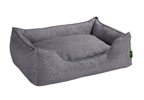 Hunter Boston 61429,Cama para perros, tamaño S (espacio exterior 60 x 50 x 20 cm/ interior cojín 52 x 42 cm), color gris