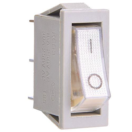 Interruptor basculante SPST de encendido y apagado, hecho de plástico interruptor basculante de metal pin posición