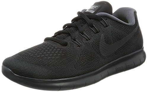 Nike Women's Free RN 2017 Running Shoe (8.5 B(M) US, Black/Anthracite Dark Grey)