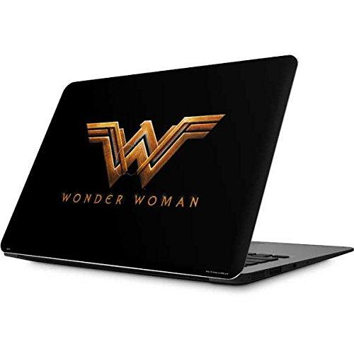 Skinit Decal Laptop Skin for MacBook Air 13.3 (2010-2017) - Officially Licensed Warner Bros Wonder Woman Gold Logo Design