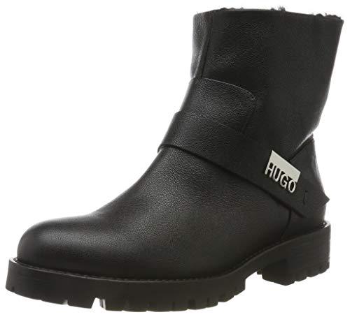 HUGO Victoria Biker-C, Damen Biker Boots, Schwarz (Black 001), 41 EU (7 UK)