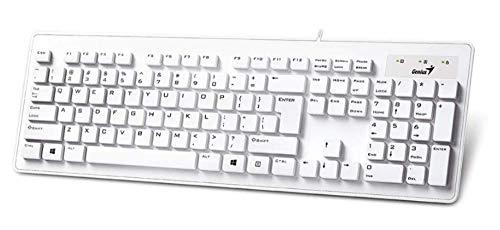 Genius Slimstar 130 - Teclado Usb, color blanco - [Teclado QWERTY Español]