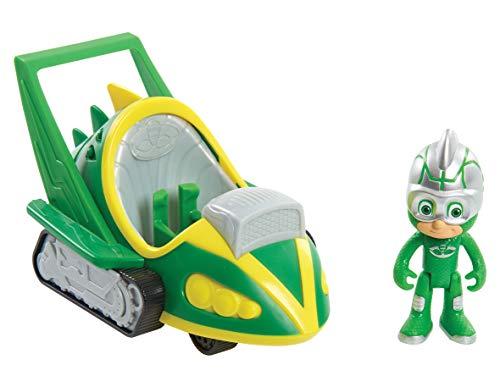 PJ Masks-95233 Vehículo Speed Booster-Gekko, Multicolor (Bandai 95233)