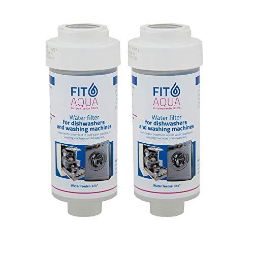 Fit aqua AC-WSM AM-SET-I 2 x Waschmaschinenfilter Kalkfilter Spülmaschinenfilter Wasserfilter Fitaqua, 2 Stück (1er Pack)