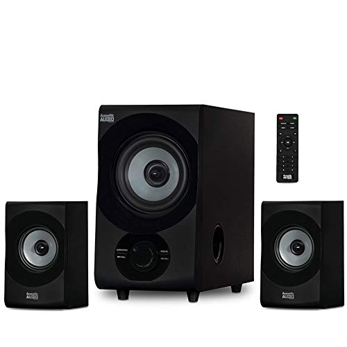 Acoustic Audio by Goldwood Audio Bluetooth 2.1 Speaker System, AA2172, Gray