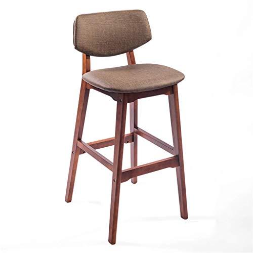 Eetkamerstoel, barkruk van 25/29 inch, gevoerde voetenbank, ergonomische zitting voor keuken, caf, barkruk voor tuinbank, max. Opladen 440 palen met bruine houten poten. Seat height:73cm Bruin