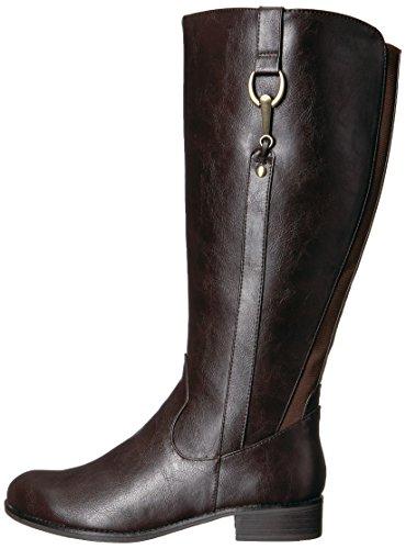 LifeStride Women's Sikora-wc Riding Boot, Dark Brown, 7 W US