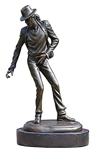 WQQLQX Statue Michael Jackson Statue Handwerk Bronze Statue Skulptur Kunstwerk Dekoration Souvenir Desktop Schreibtisch Tänzerin Figur Geschenk Skulpturen