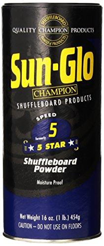 Sun-Glo Speed 5 (5-Star Wax) Shuffleboard Table Powder, 16 oz. Can