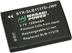Wasabi Power Battery for Samsung SLB-1137D and Samsung i80, i85, i100, L74 Wide, NV11, NV24HD, NV30, NV40, NV100HD, NV103, NV106 HD, TL34HD
